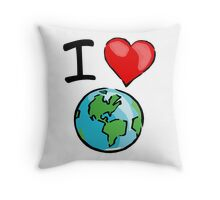 I heart earth Throw Pillow