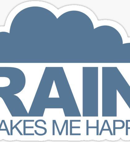 Rain Makes Me Happy Sticker