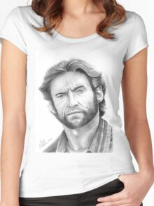 Hugh Jackman, the Wolverine! Women's Fitted Scoop T-Shirt
