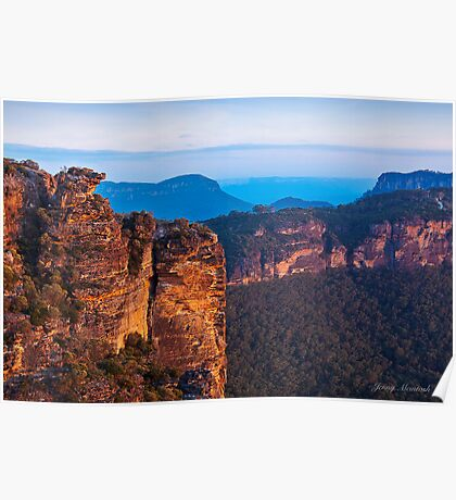 Boars Head  Katoomba Blue Mountains NSW Poster