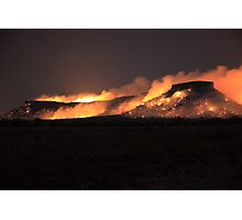 Fire on Table Mountain Photographic Print