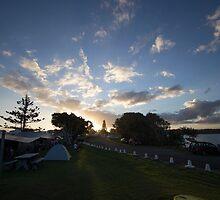 Campsite Sunset - Lennox Head by Daniel Rankmore