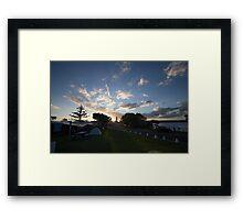 Campsite Sunset - Lennox Head Framed Print