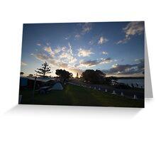 Campsite Sunset - Lennox Head Greeting Card