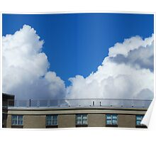 Roof top Cloud Views, NYC Poster