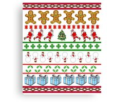 Runners Ugly Christmas Sweater  Canvas Print