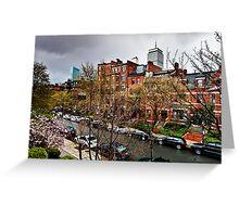 April showers Marlborough Street Greeting Card