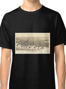 Panoramic Maps Ashland Lake Superior Wis 1890 Classic T-Shirt
