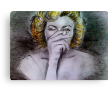 Smoking Marilyn  Canvas Print