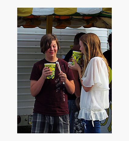 Sharing Lemon Slush Photographic Print