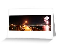 Forster NYE Fireworks Panorama Greeting Card