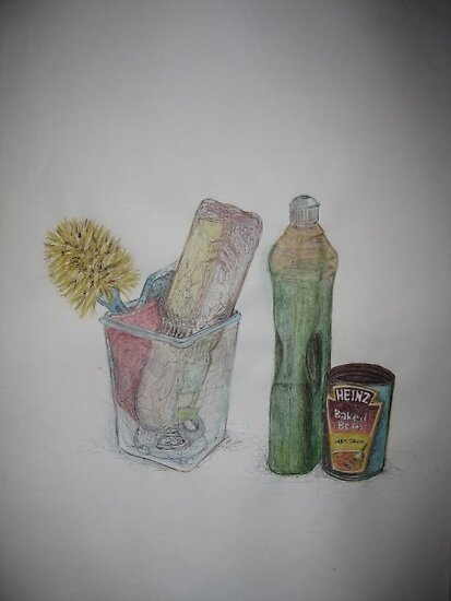 Still Life with baked beans by Chloe Bower