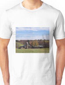 Fall farm scenery Unisex T-Shirt
