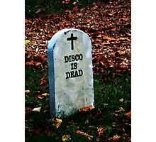 Disco is Dead Photographic Print