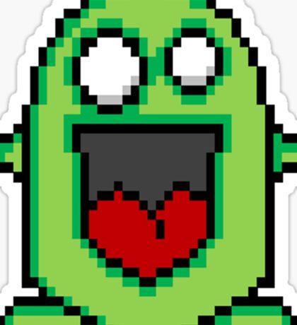 Pixel Friendly Monster Sticker