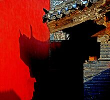 Beijing - ?? - Chinese shadows. by Jean-Luc Rollier
