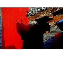 Beijing - 故宫 - Chinese shadows. Photographic Print
