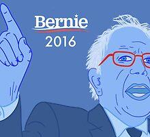 Bernie Portrait Illustration  by Robin McGill