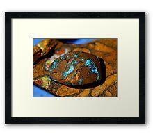 Blue rock's Framed Print
