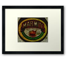 Marmite is the Word Framed Print