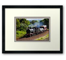 Steam Train Taree nsw Framed Print