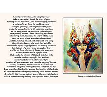 Poetry in Art - Art of Creation Photographic Print