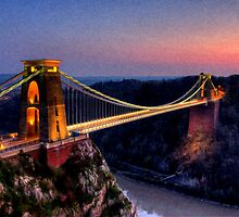 Clifton Suspension Bridge in Oil by Devereux Purdon
