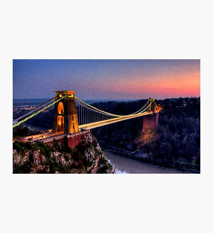 Clifton Suspension Bridge in Oil Photographic Print
