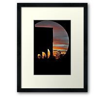 cut in colours of the sunset Framed Print