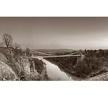 Clifton Suspension Bridge Panorama Photographic Print