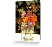 Flower jar. Greeting Card