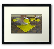 Commuter Dance Steps Framed Print
