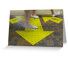 Commuter Dance Steps Greeting Card