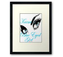 KARMAS BLUE EYED GIRL Framed Print