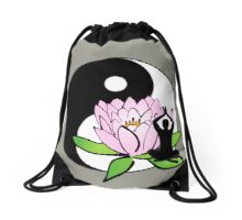 7 DAY'S OF SUMMER-YOGA ZEN RANGE-MINDFULNESS GREY Drawstring Bag
