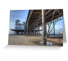 Weston Super Mere Pier from Below Greeting Card