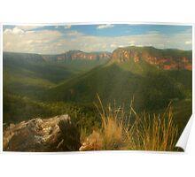 Grose Valley .. light & shade Poster