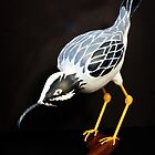 A Ferocious Heron - Gourd Sculpture by Robert Kelch, M.D.