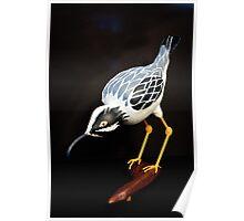 A Ferocious Heron - Gourd Sculpture Poster