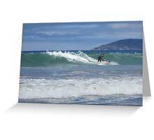 Jet Ski Surfing Greeting Card