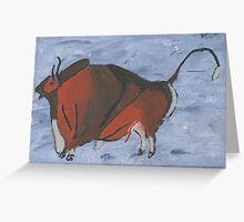 Altamira Bull Greeting Card