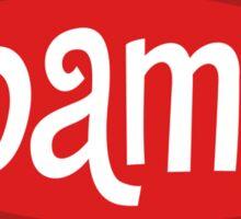 Retro Red Obama Sticker