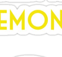 The traveling lemon Sticker