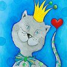 King of Cats by Malerin Sonja Mengkowski