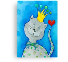 King of Cats Canvas Print
