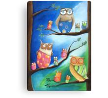Owls School Canvas Print