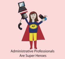 Administrative Professional Super Hero (Brunette) Kids Clothes