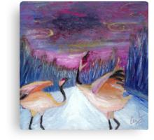 Love Cranes at Play Canvas Print