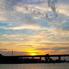 Big Sunset Sky in Stuart Florida by Henry Plumley