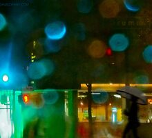 Embarcadero in the rain by David Denny
